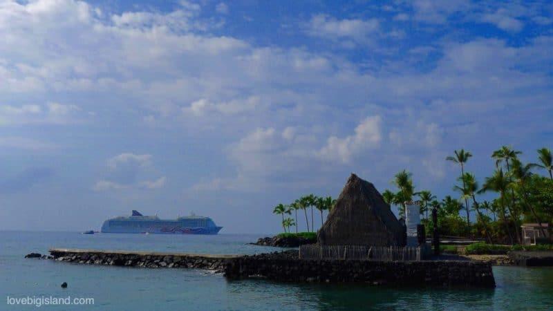 cruise ship, kailua kona, kona, big island, Hawai'i island