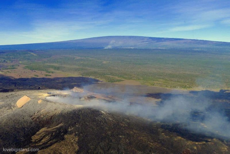 helicopter tour hawaii, volcano, puuoo, halemaumau, big island, kilauea