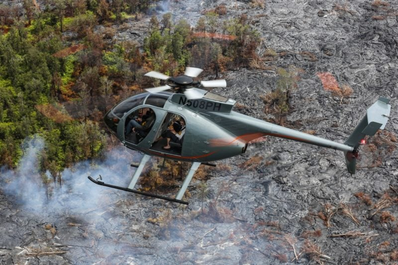 lava viewing, helicopter, hawaii