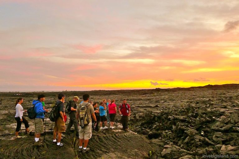 lava hike, big island