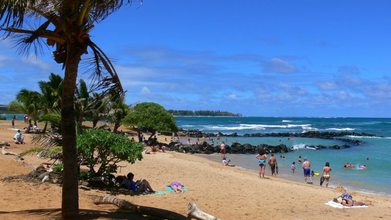 Lydgate beach during daytime