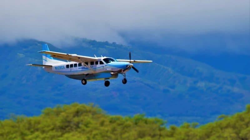 Casna grand caravan airplane on Hawaii