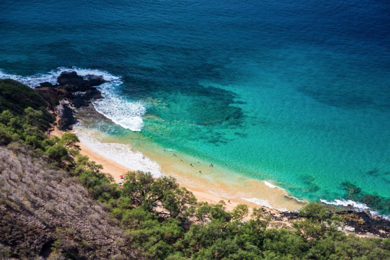 Aerial view of Little Beach