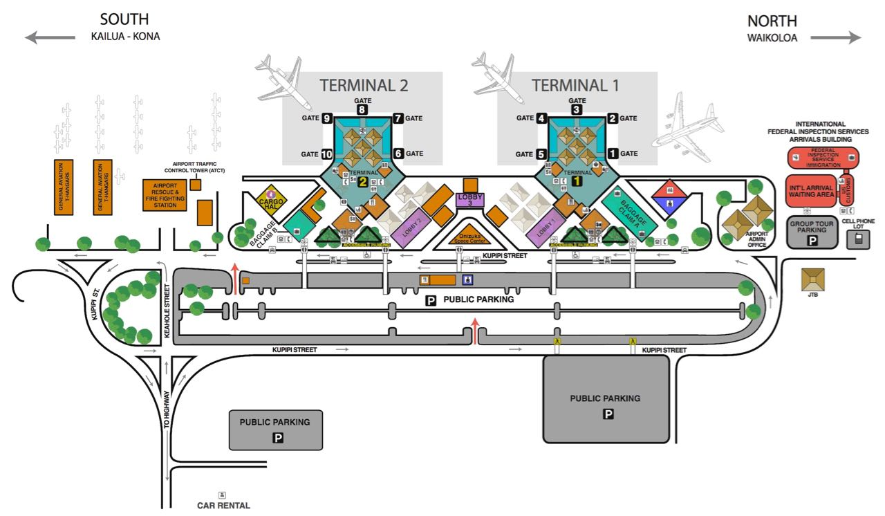 kona airport terminal map Ellison Onizuka Kona International Airport Koa On The Big Island kona airport terminal map