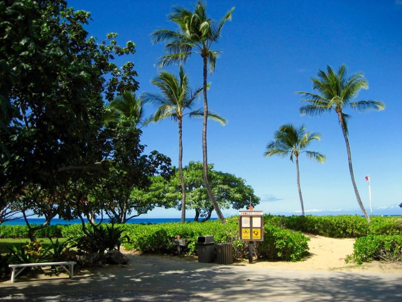 mauna kea beach, parking, access, big island