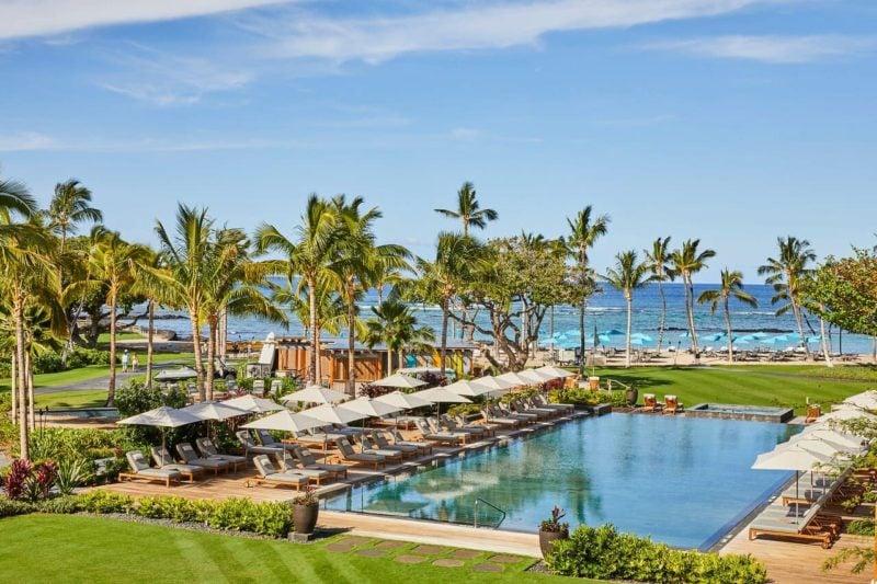 infinity pool at the Mauna Lani Auberge resort on the Big Island