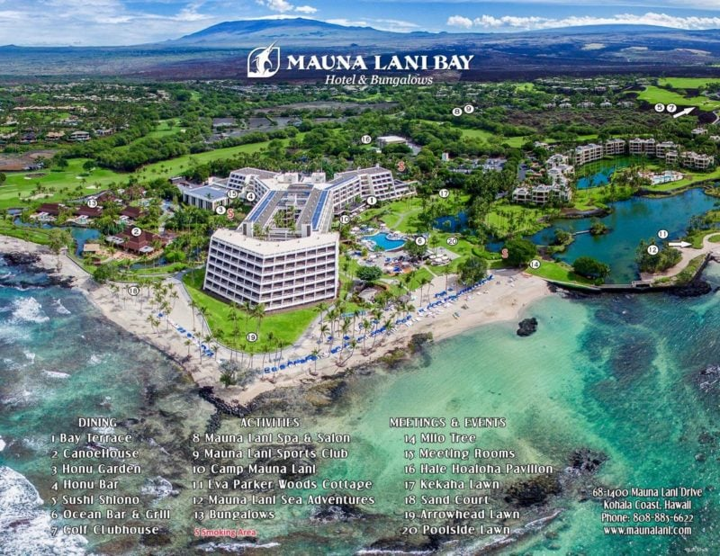 Mauna Lani Resort Hotel Big Island Map Hawaii