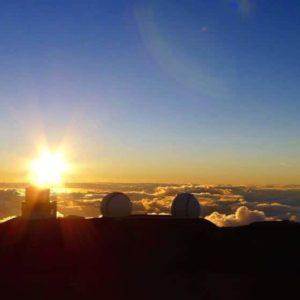 sunset, mauna kea, subaru, keck, hawaii, stargazing