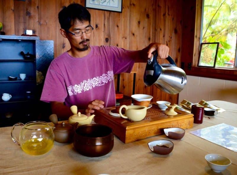 Mauna Kea tea tasting