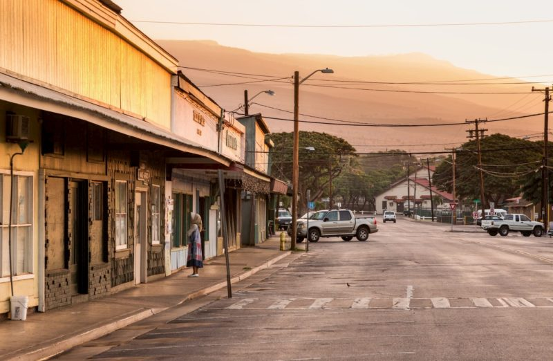 The town of Kaunakakai on Molokai