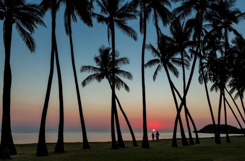 sunset at Molokai beach