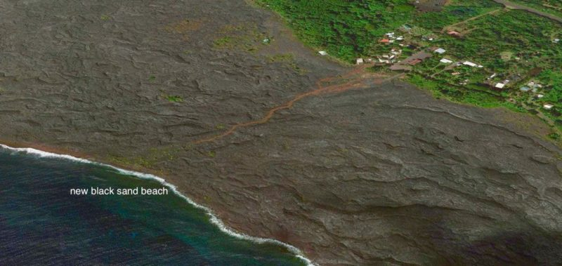 kaimu bay, kalapana, kaimu beach, black sand beach, big island