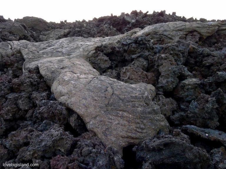 pahoehoe lava a'a