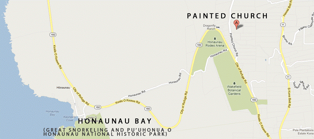 Directions to the Painted Church in south Kona