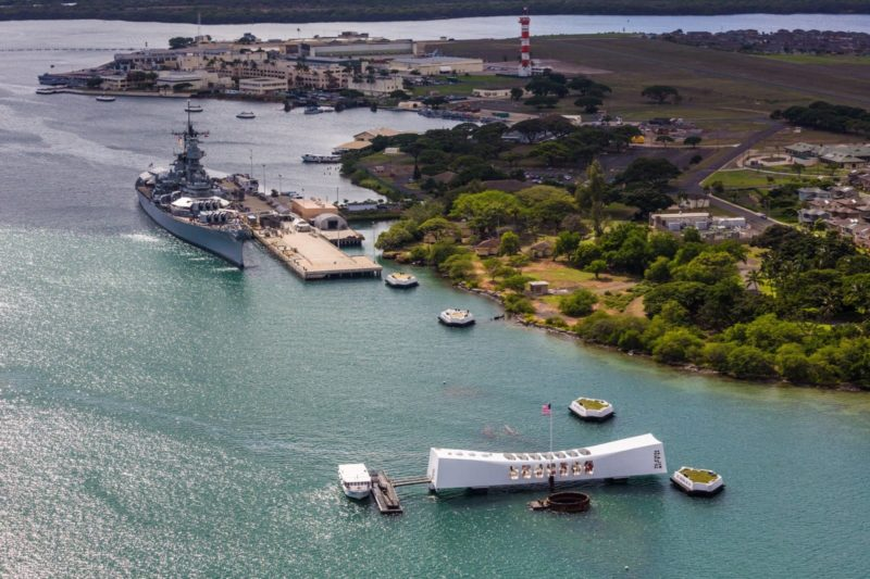 Battleship Missouri and USS Arizona memorial