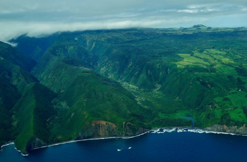 Aerial view of Pololu Valley
