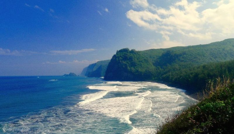pololu valley, kohala, landslide, sea cliffs, big island, hawaii