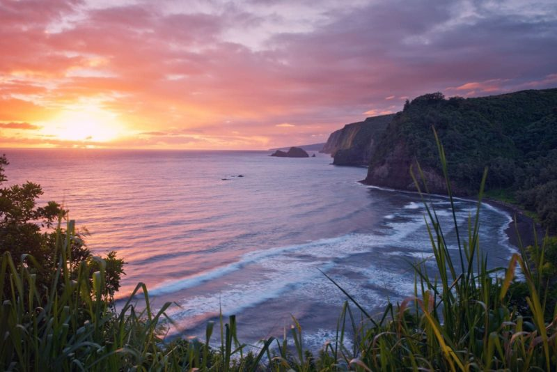 Sunrise from Pololu valley