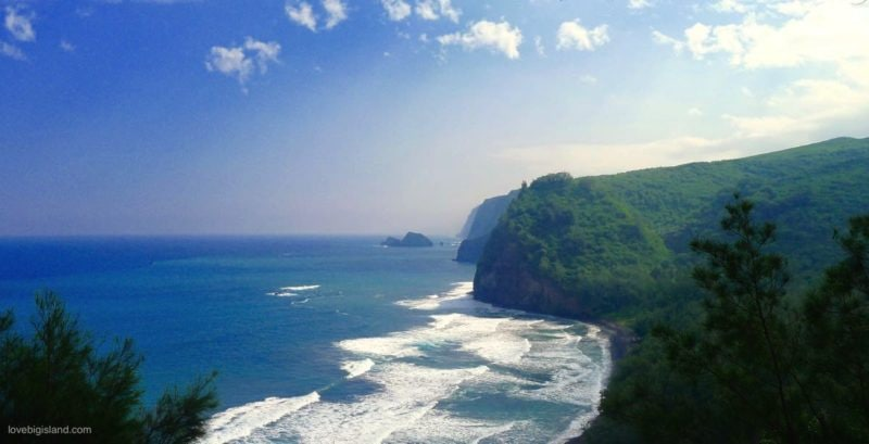 pololu valley lookout, big island, hawaii, cliffs, kohala