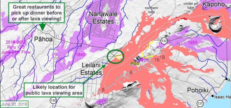 public lava viewing, big island, hawaii, LERZ, lower east rift zone eruption