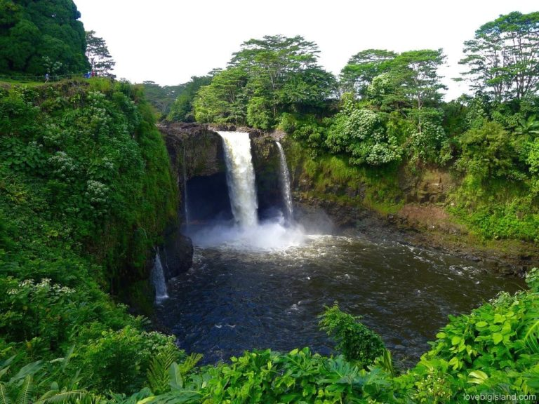 rainbow falls going off big island
