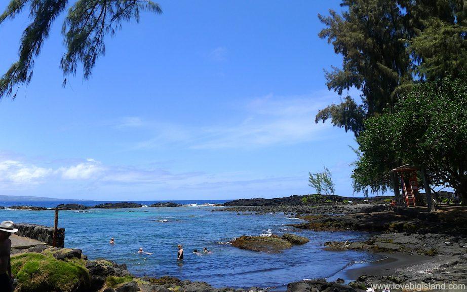 Richardsons beach park on the Big Island