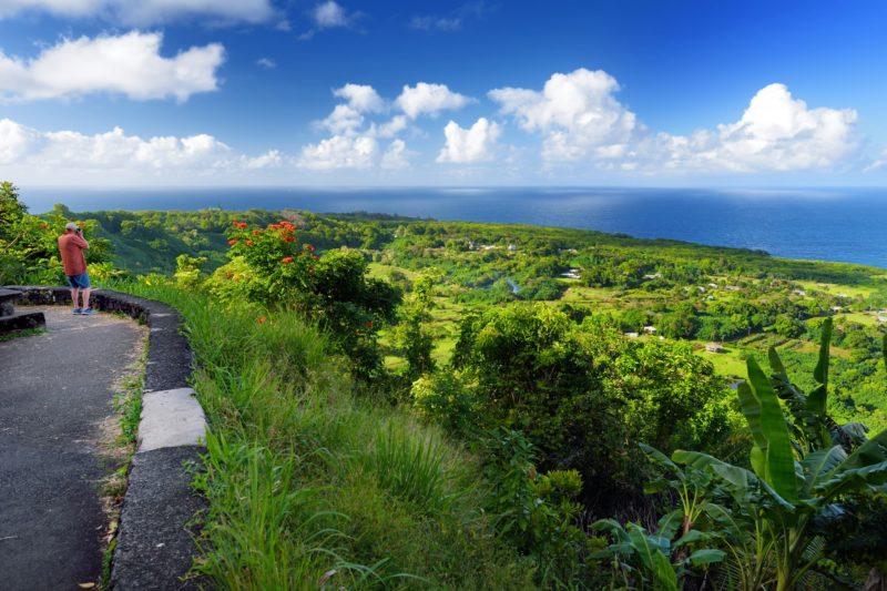 Scenic views on the Hana highway (Maui)