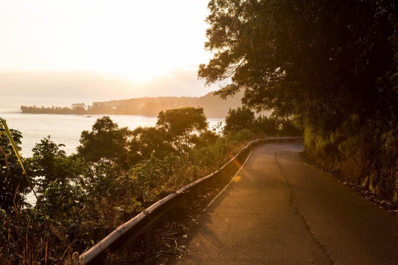 sunrise at the Hana highway