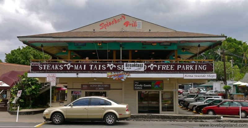 Splashers Grill in Kona on the Big Island