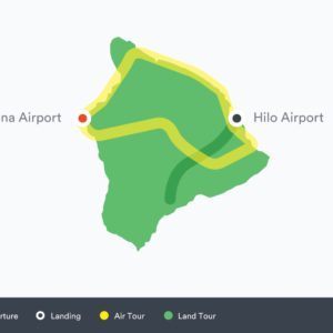 volcano by air and land tour route map