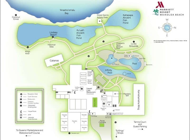 mariott waikoloa, resort map, hawaii, big island, kona
