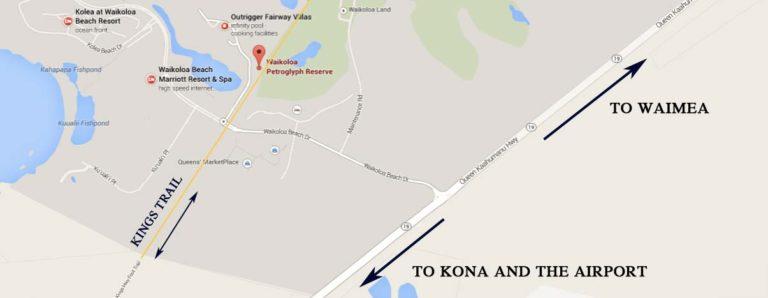 Directions to the Waikoloa Petroglyph field