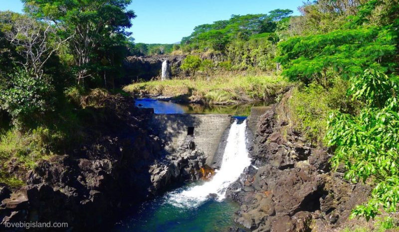 waterfall, wailuku river, hilo, big island, hawaii