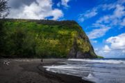 waipio valley, waipi'o valley, hawaii, black sand beach, big island