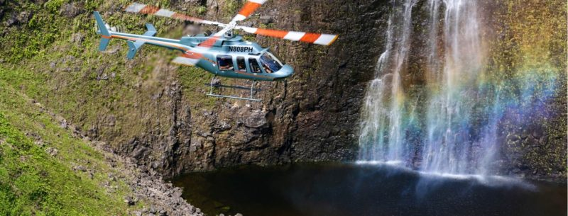 Waterfall helicopter tour in Kohala